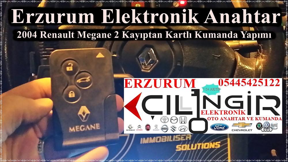 Erzurum Elektronik Anahtar | Oto Anahtarı, Kumanda Kopyalama  0544 542 51 22 0534 545 59 59 www.anahtarcierzurum.com www.alocilingirim.com 2004 Renault Megane 2 Kayıptan Kartlı Kumanda Yapımı