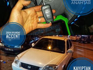 2004 Hyundai Accent Kayıptan Sustalı Kumandalı Anahtar Yapımı