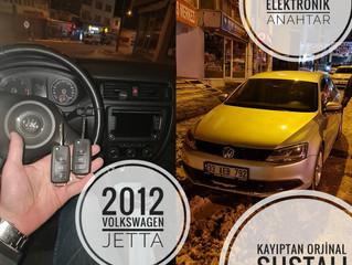 2012 Volkswagen Jetta Kayıptan Orjinal Sustalı Kumandalı Anahtar Yapımı