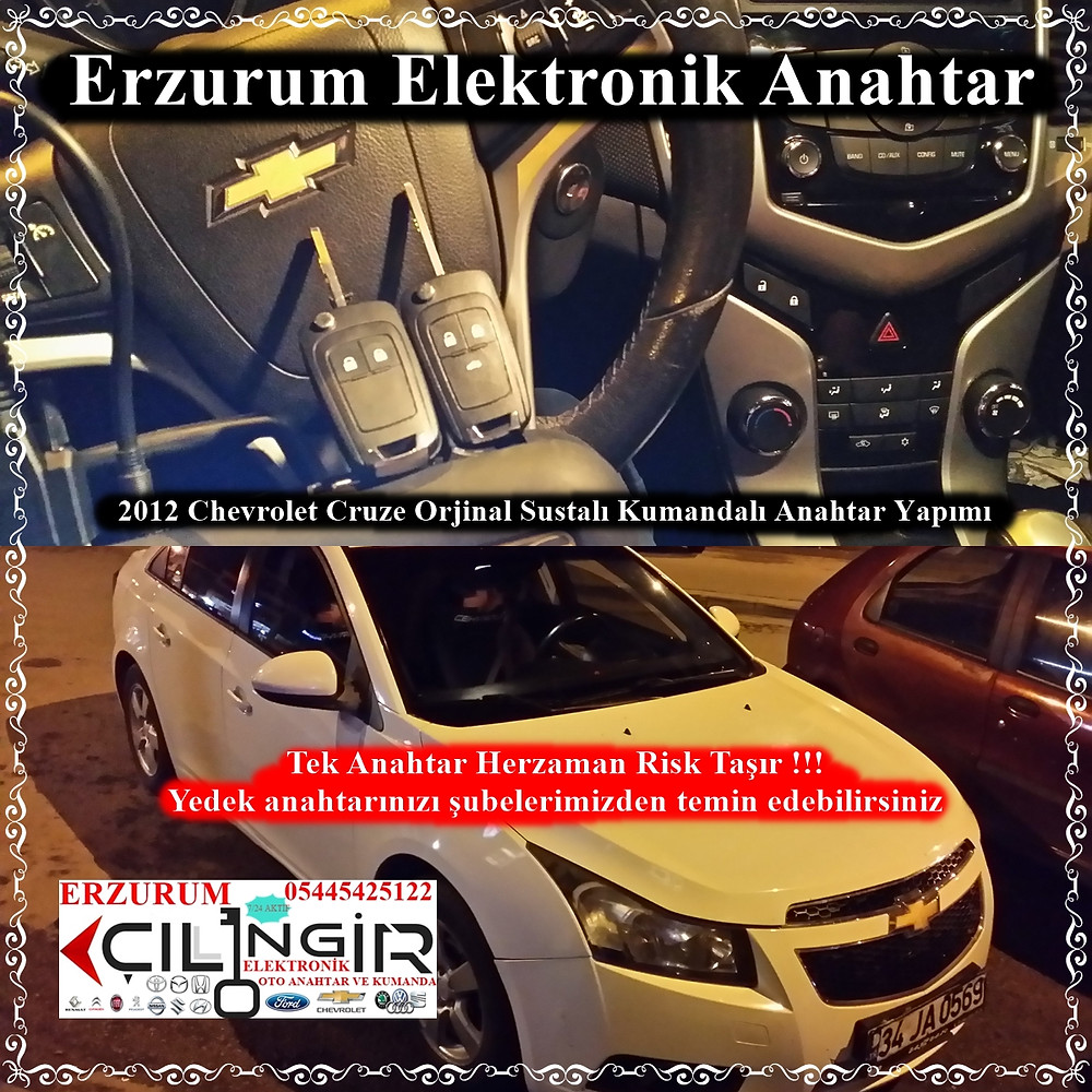 2012 Chevrolet Cruze Orjinal Sustalı Kumandalı Anahtar Yapımı