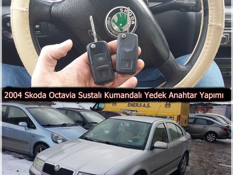 2004 Skoda Octavia Sustalı Kumandalı Yedek Anahtar Yapımı