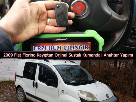 2009 Fiat Fiorino Kayıptan Orjinal Sustalı Kumandalı Anahtar Yapımı