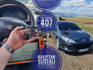 2007 Peugeot 407 Kayıptan Sustalı Kumandalı Ve İmmobilizerli Anahtar Yapımı