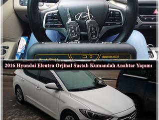 2016 Hyundai Elentra Orjinal Sustalı Kumandalı Anahtar Yapımı