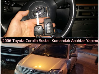 2006 Toyota Corolla Sustalı Kumandalı Anahtar Yapımı-2