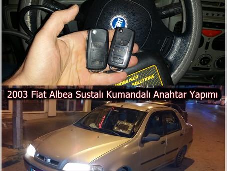 2003 Fiat Albea Sustalı Kumandalı Anahtar Yapımı