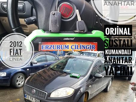2012 Fiat Linea Orjinal Sustalı Kumandalı Anahtar Yapımı