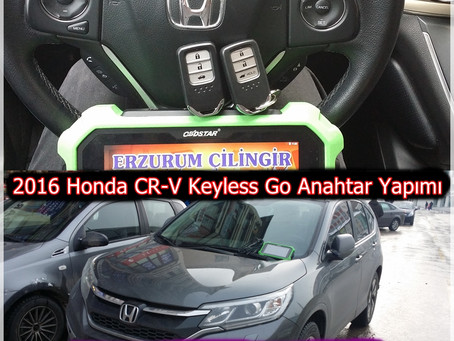 2016 Honda CR-V Keyless Go Anahtar Yapımı