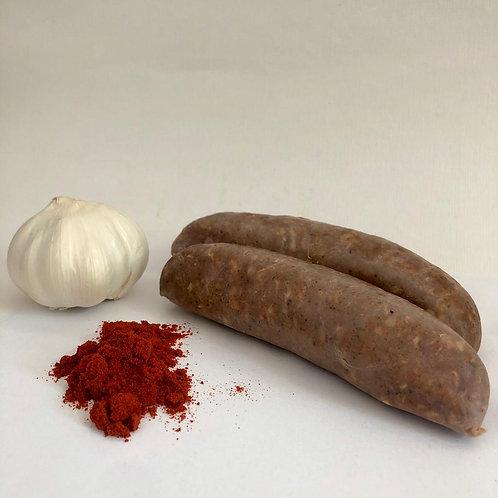 Chorizo-stijl worst- bok