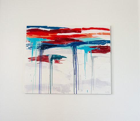 Sólido de vermelho entre brancos e azuis – I