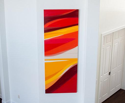 Vibrant Warm Abstract - I