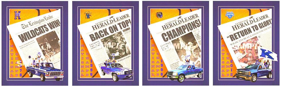 LE 500 New Set of 4 Championship Prints