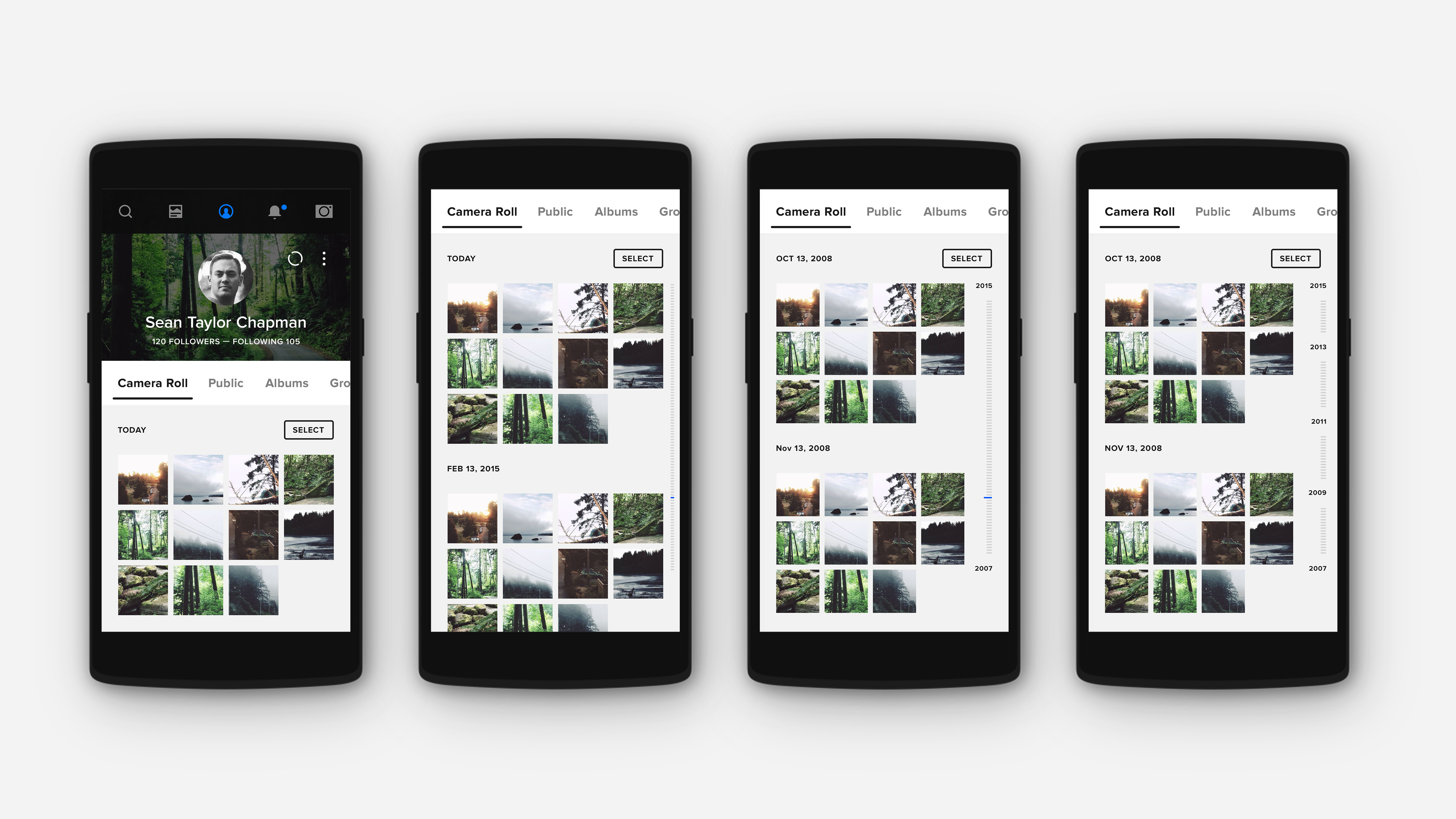 Flickr 4.0 Timeline Filter Concepts
