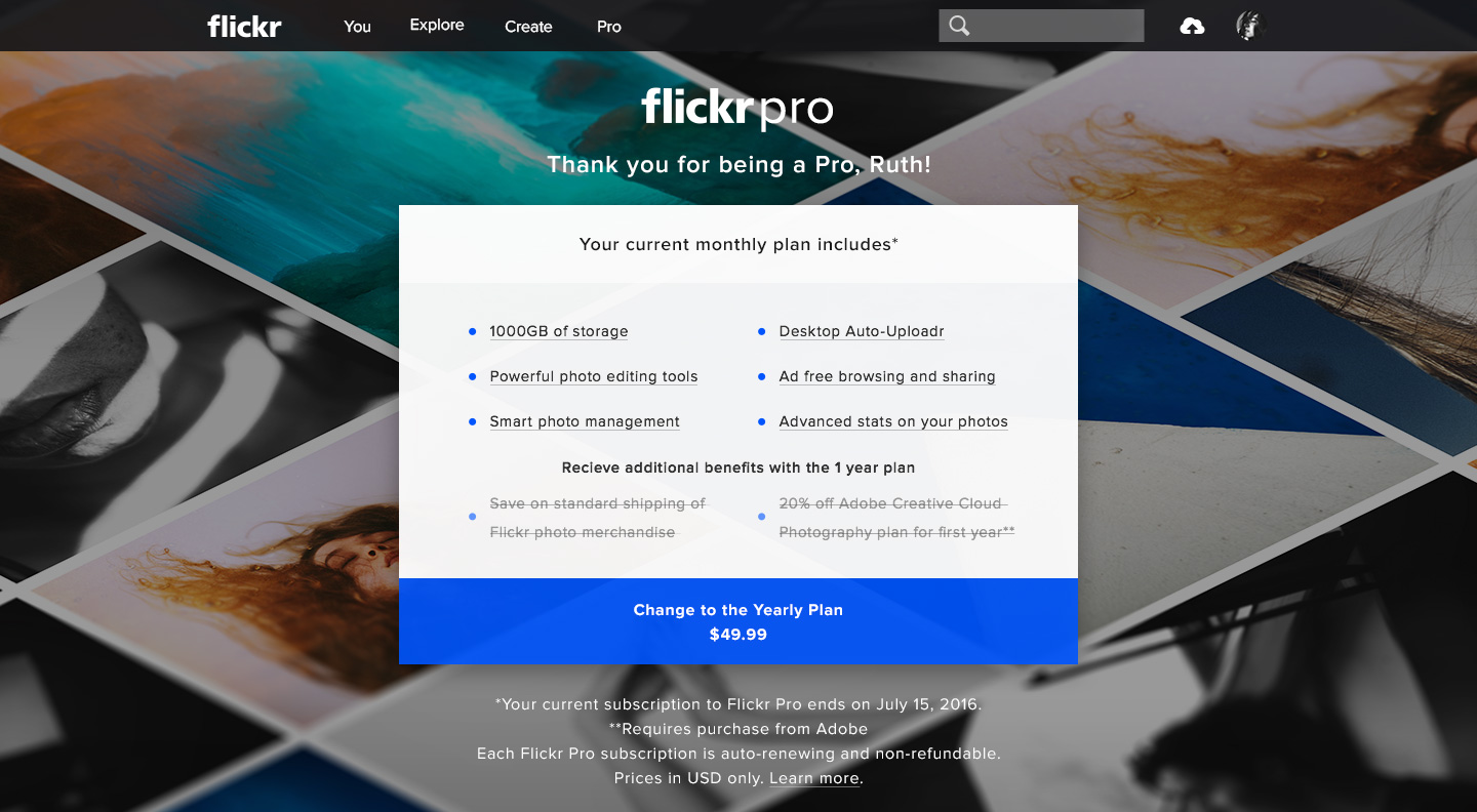 Already Pro — Flickr Pro