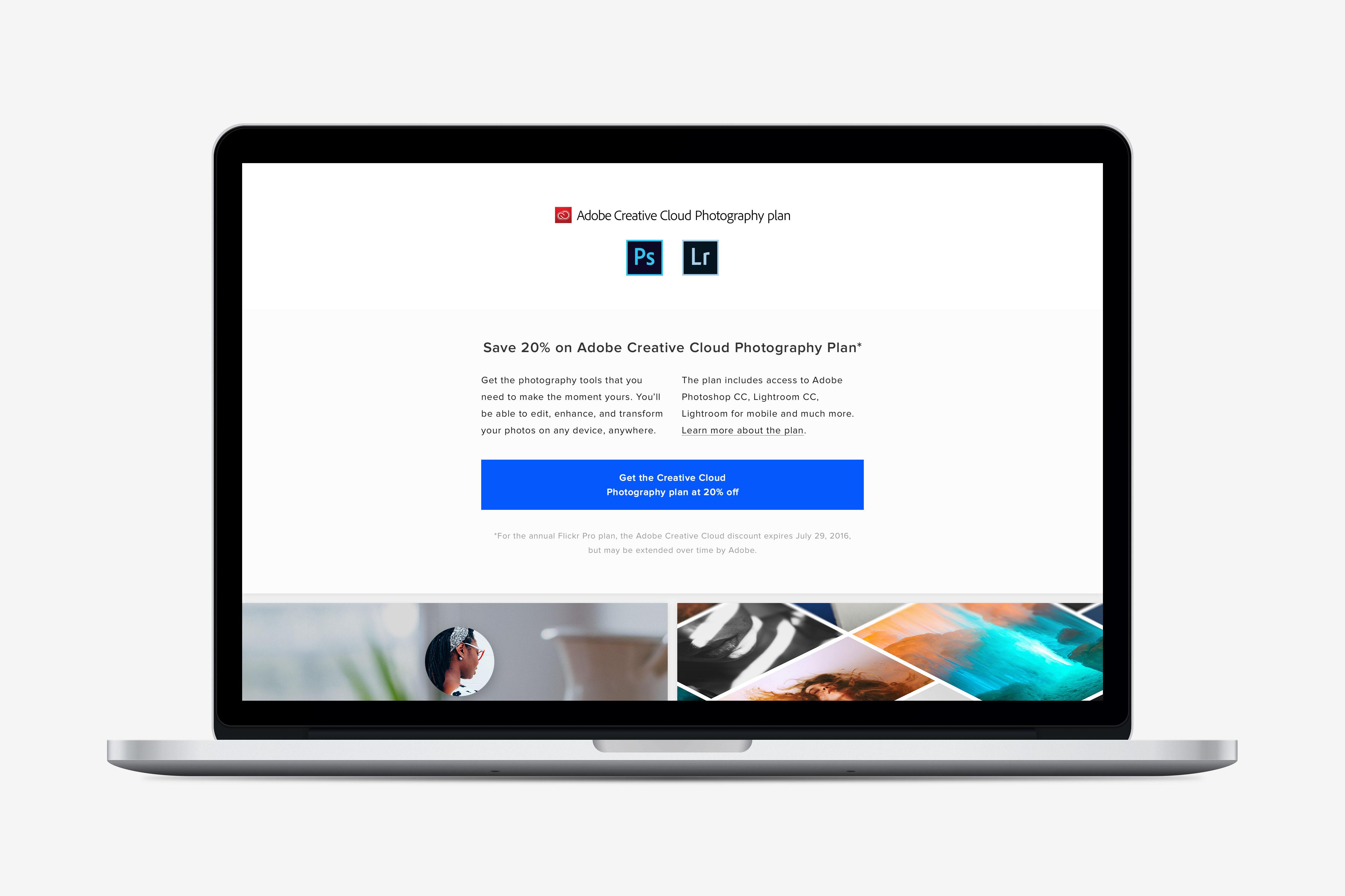 Flickr Pro Adobe 20%