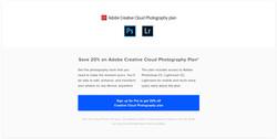 Adobe CC Non Pro Sign Up CTA