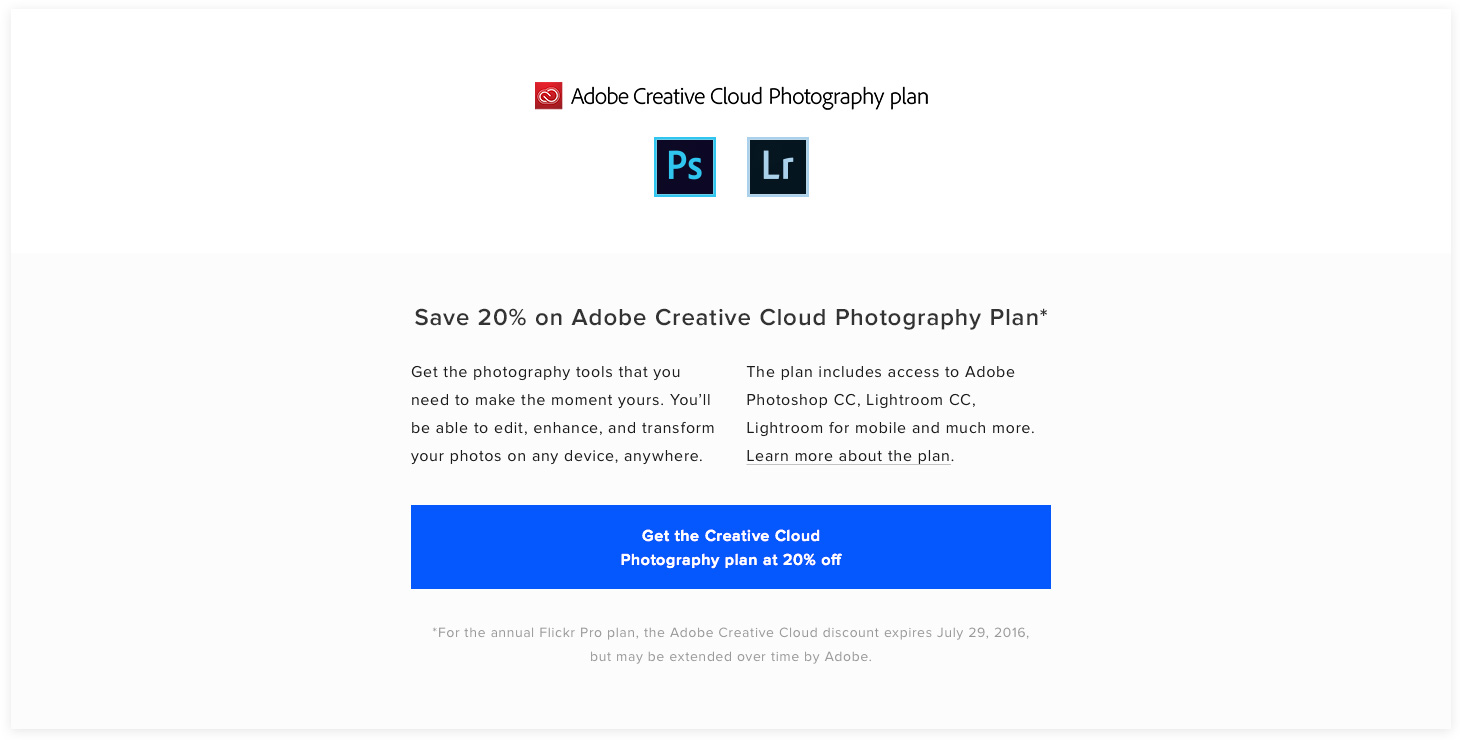 Adobe CC Pro Get the Plan CTA