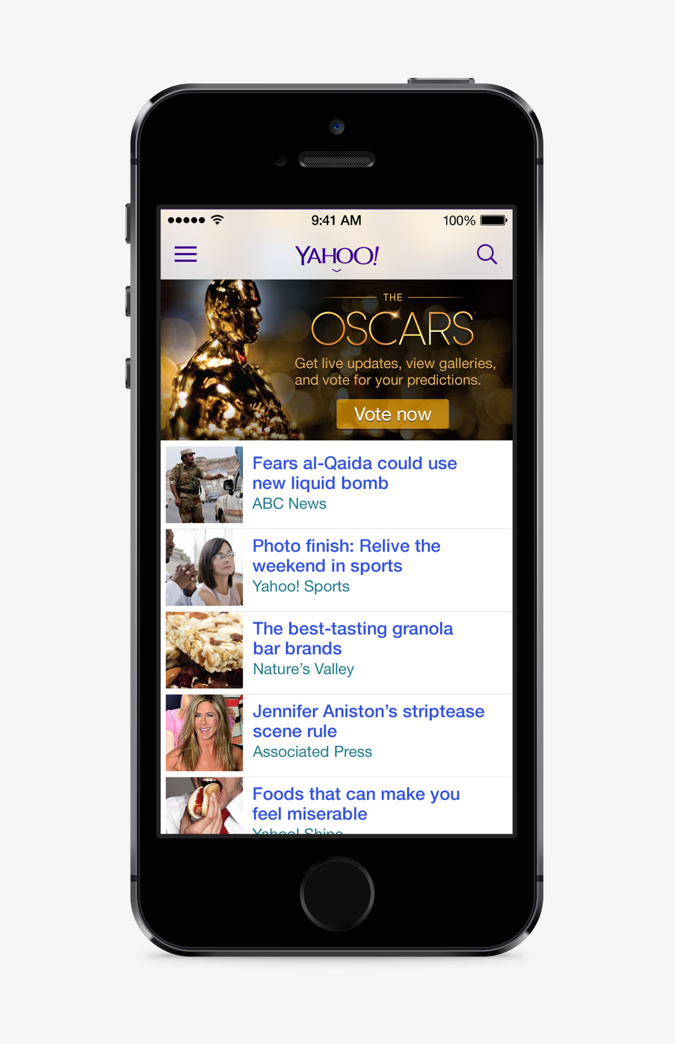 Yahoo Oscars Today Module