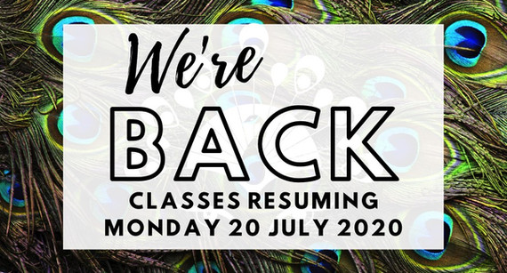 We're Back!  Classes resuming Monday 20 July 2020