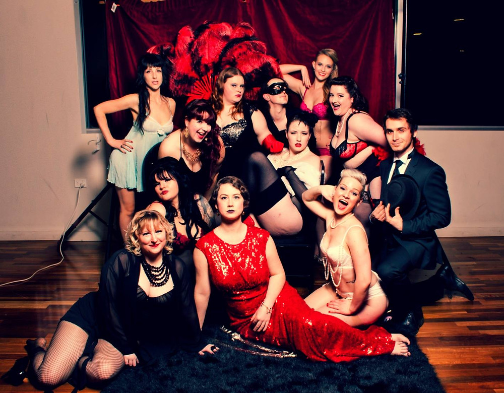 Sass and Tease Collective's October graduating class