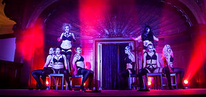 Canberra burlesque teacher Ivy Ambrosia performing at Smith's ALternative. Image by Brett Sargeant, D-eye Photography