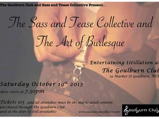The Art of Burlesque at The Goulburn Club
