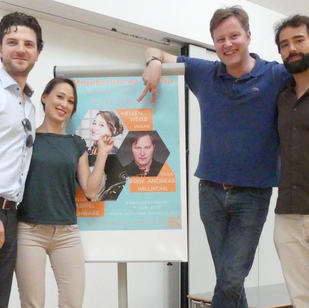 Gabriel Schwabe, Hellen Weiß, Andreas Willwohl und Nikolaus Resa