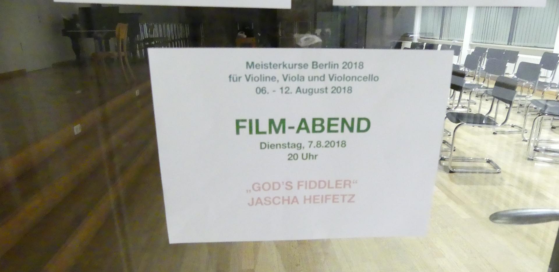 "Film-Abend: ""God`s Fiddler"" Jascha Heifetz"