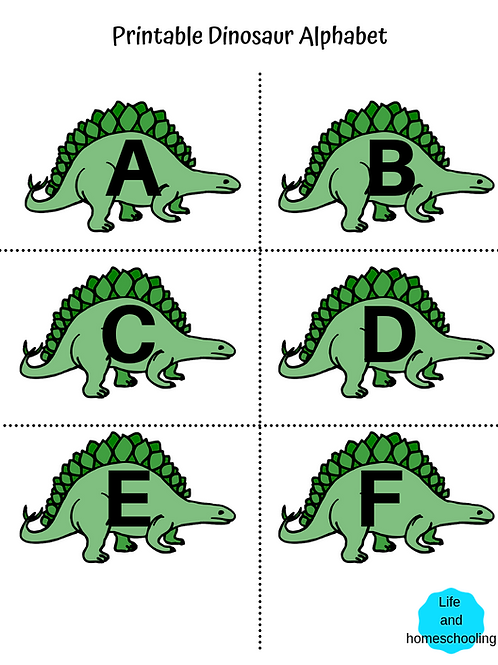 Alphabet Dinosaur Printable