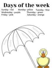 Days of the Week Coloring