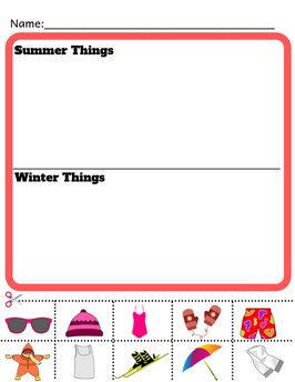 Kindergarten Science Worksheet