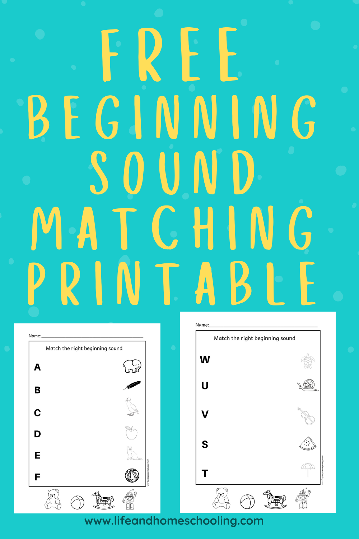 Free Beginning Sound Worksheets