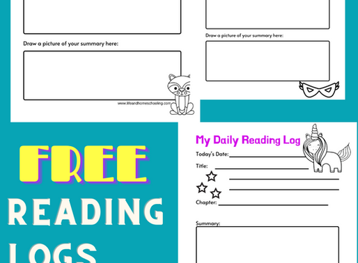FREE DAILY READING LOGS FOR KIDS