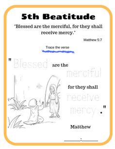 5th Beatitude verse tracing