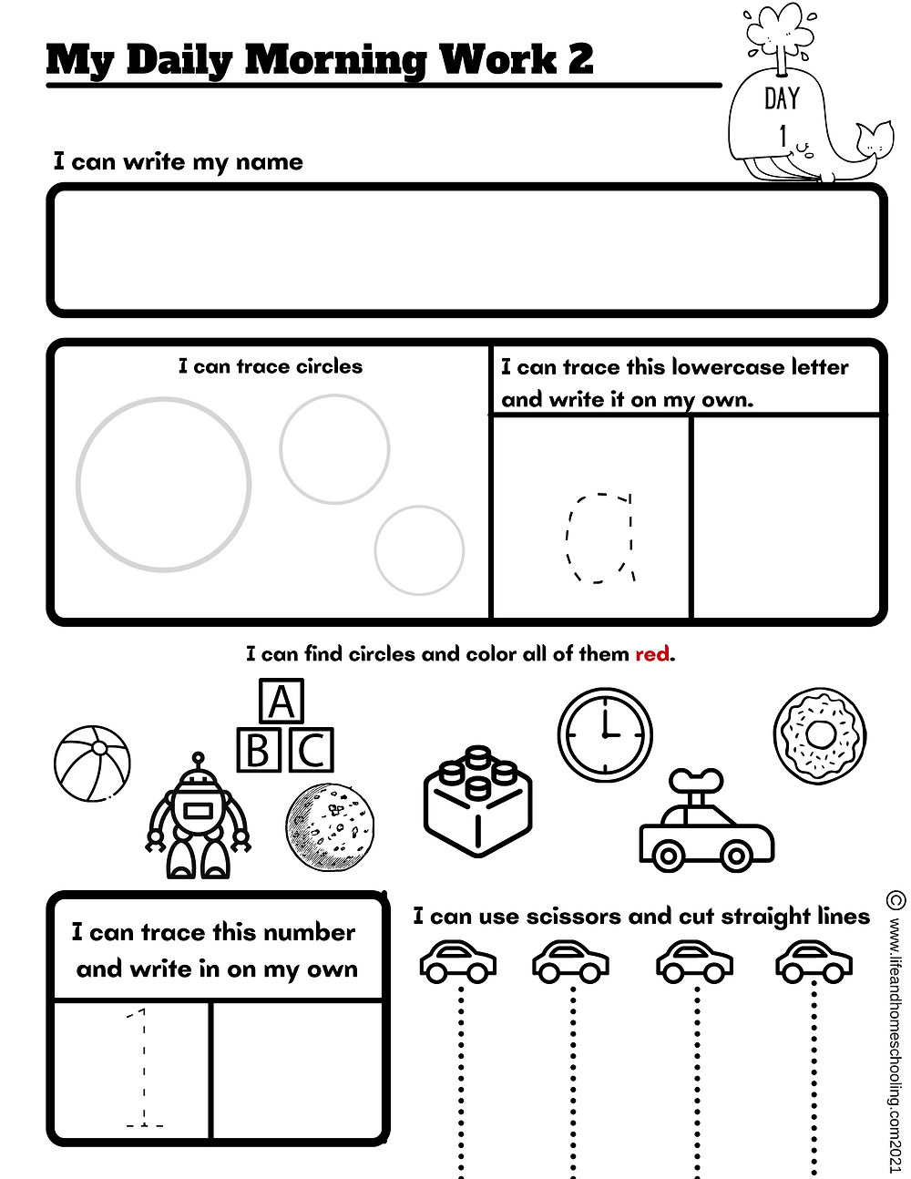 Preschool Morning Worksheet