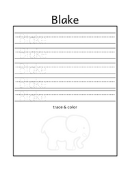 Free name tracing printable