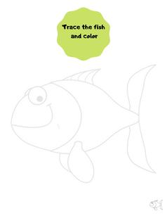 Tracing fish printable