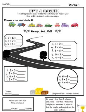 Kindergarten Addition Activity