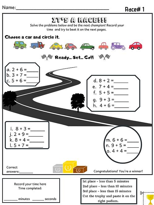 Kindergarten Addition & Subtraction