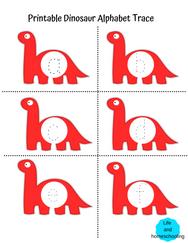 Dinosaur Alphabet Trace