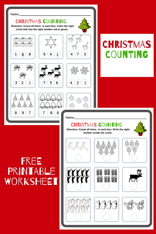Preschool-Kindergarten Christmas Counting