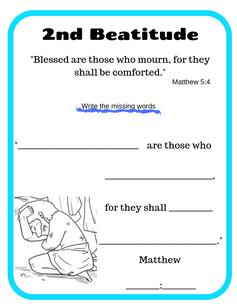 2nd Beatitude verse printable