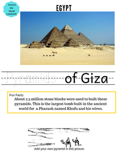Around the World Social Studies Worksheet