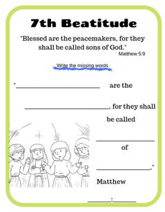 7th Beatitude verse printable