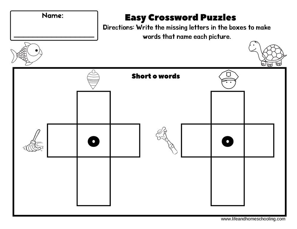 Free easy crossword puzzle / Life and Homeschooling