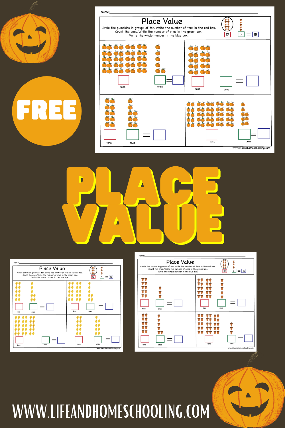 Free place value worksheet / life and homeschooling