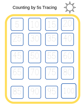 Counting by 5s Tracing