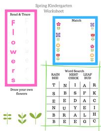 Free Spring Themed Worksheet