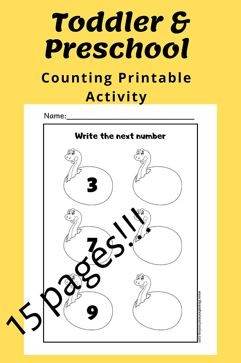 Toddler _Preschool Counting & Writing Numbers Printable