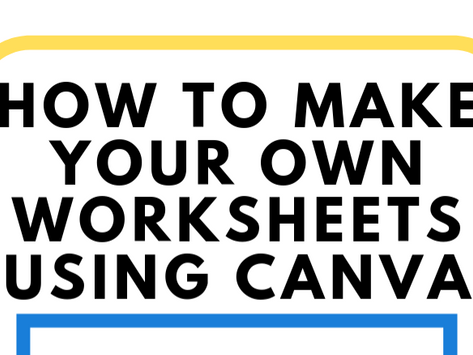 How to make your own worksheets using Canva